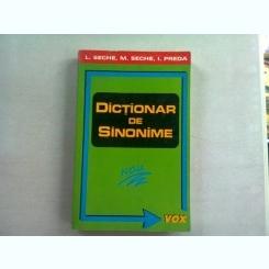 DICTIONAR DE SINONIME - L. SECHE