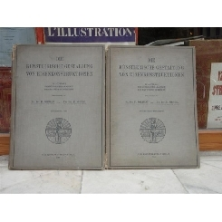 Die Kunstlerische gestaltung von eisenkonstruktionen 2 volume - Carte de arhitectura , Dr. Ing. H. Jordan , 1913