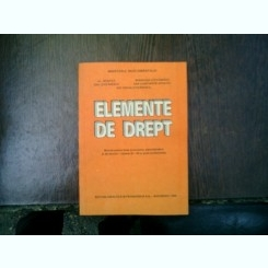 Elemente de drept - Al. Negoita, Dinu Stefanescu