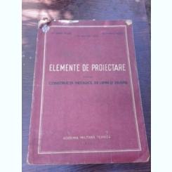 ELEMENTE DE PROIECTARE PENTRU CONSTRUCTII METALICE, DE LEMN SI ZIDARIE - CARARE TEODOR
