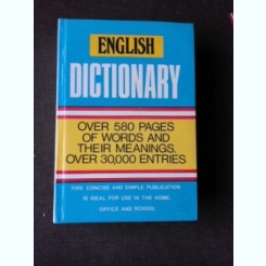 ENGLISH DICTIONARY, OVER 580 PAGES OF WORDS AND THEIR MEANINGS, OVER 30,000 ENTRIES