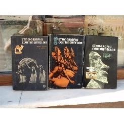 Etnografia continentelor 3 volume , S. P. Tolstov , 1959