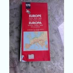 EUROPA, HARTA RUTIERA SI TURISTICA