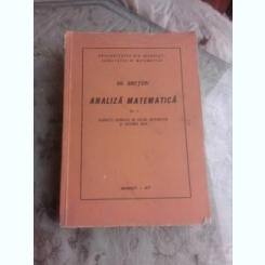 EXERCITII DE ANALIZA MATEMATICA , VOLUMUL II - GH. SIRETCHI
