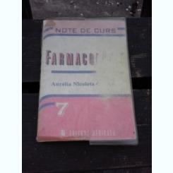 FARMACOLOGIE, NOTE DE CURS - AURELIA NICOLETA CRISTEA