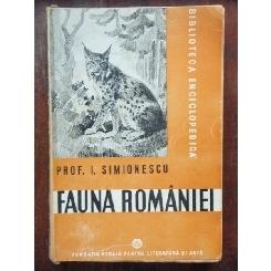 FAUNA ROMANIEI - I. SIMIONESCU