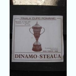 FINALA CUPEI ROMANIEI 1987. DINAMO STEAUA - PROGRAM MECI
