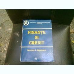 FINANTE SI CREDIT - GHEORGHE D. BISTRICEANU