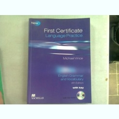 FIRST CERTIFICATE. LANGUAGE PRACTICE. ENGLISH GRAMMAR AND VOCABULARY - MICHAEL VINCE (CONTINE CD)