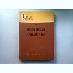 FUNCTII SPECIALE SI APLICATIILE LOR - N.N. LEBEDEV