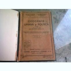 GEOGRAFIE UMANA SI POLITICA PENTRU CLASA A-VI-A-MIHAIL D. DAVID- P. N. MIRODESCU