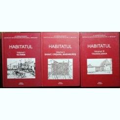 HABITATUL COLECTIE 3 VOLUME - ACADEMIA ROMANA /INSTITUTUL DE ETNOGRAFIE SI FOLCLOR .C. BRAILOIU