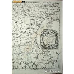 HARTA CURSUL DUNARII Serbia Romania Bulgaria - Cantelli / De Rossi 1684