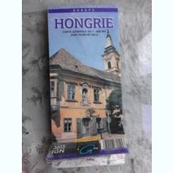 HONGRIE, CARTE GENERALE, AVEC PLAN DE VILLE  (HARTA UNGARIA)