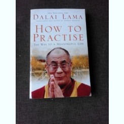 HOW TO PRACTISE, THE WAY TO A MEANINGFUL LIFE - DALAI LAMA  (CARTE IN LIMBA ENGLEZA)