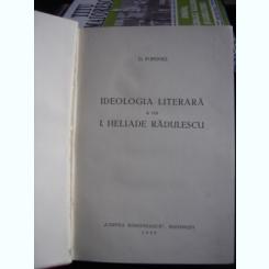 IDEOLOGIA LITERARA A LUI I. HELIADE RADULESCU DE D. POPOVICI