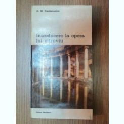 INTRODUCERE LA OPERA LUI VITRUVIU-G.M. CANTACUZINO 1993