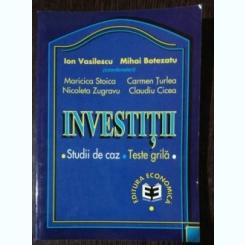 INVESTITII - ION VASILESCSU MIHAI BOTEZATU