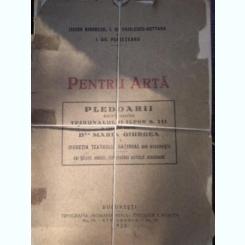 ISIDOR BIRNBERG - PENTRU ARTA,PLEDOARII,TRIBUNALUL ILFOV,1928