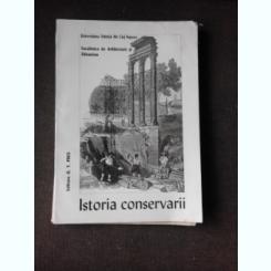 ISTORIA CONSERVARII, FACULTATEA DE ARHITECTURA SI URBANISM