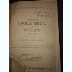 ISTORIA EVULUI MEDIU SI MODERN PENTRU CLASA VI - A SECUNDARA - D . D . PATRASCANU