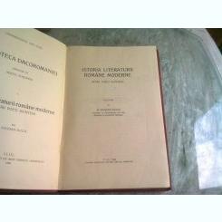 ISTORIA LITERATURII ROMANE MODERNE, INTAII POETI MUNTENI - G. BOGDAN DUICA