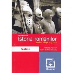 ISTORIA ROMANILOR PENTRU CLASA A XII-A - RAMONA POPOVICI