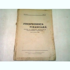 JURISPRUDENTA FINANCIARA NR.1/IULIE  1937