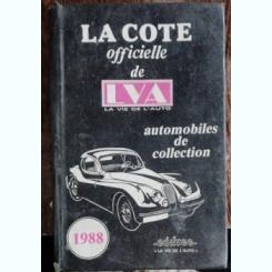 LA COTE OFFICIELLE DE LA VIE DE L'AUTO -AUTOMOBILES DE COLLECTION