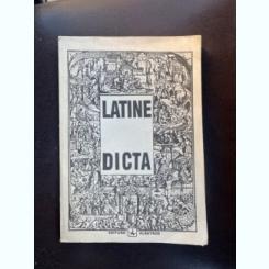 LATINE DICTA-CITATE SI EXPRESII LATINESTI {ED ALBATROS 1992 FORMAT APROPIAT A 4 280 PAG}