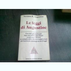LE LEGGI DI AUGUSTINE - NORMAN R. AUGUSTINE   (CARTE IN LIMBA ITALIANA)