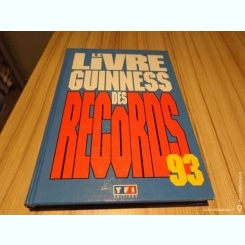 LE LIVRE GUINNESS DES RECORDS 1993  (CARTE IN LIMBA FRANCEZA)