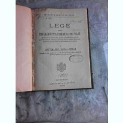 LEGE PENTRU INVATAMANTUL PRIMAR AL STATULUI, 1924