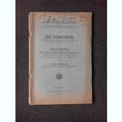 LEGEA BALNEO-CLIMATICA, 1926 SI REGULAMENTUL INSTITUTIILOR HIDRO-MINERALE SI CLIMATICE EXTRAS DIN LEGEA MINELOR