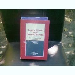 LEGEA NR.85/2006 PRIVIND PROCEDURA INSOLVENTEI - STANCIU D. CARPENARU