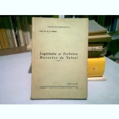 LEGISLATIA SI TEHNICA BURSELOR DE VALORI - N.N. STOIKA