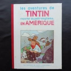 LES AVENTURES DE TINTIN. REPORTER DU PETIT VINGTIEME. EN AMERIQUE (CARTE CU BENZI DESENATE, TEXT IN LIMBA FRANCEZA)