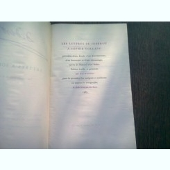 LES LETTRES DE DIDEROT A SOPHIE VOLLAND  (CARTE IN LIMBA FRANCEZA)