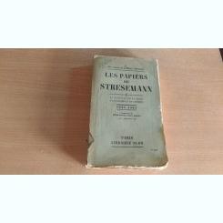 LES PAPIERS DE STRESEMANN-VOL1,2,3- HENRI BLOCH-PAUL ROQUES