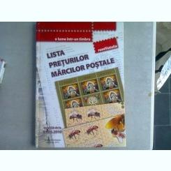LISTA PRETURILOR MARCILOR POSTALE - VALABILA DE LA 01. 05. 2010