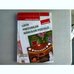 LISTA PRETURILOR MARCILOR POSTALE - VALABILA DE LA 01. 05. 2013