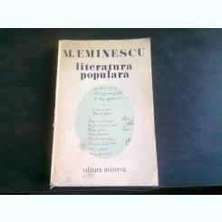 LITERATURA POPULARA DE M. EMINESCU , 1977