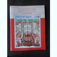 LONDON, POSTERS FROM THE LONDON TRANSPORT MUSEUM, COLOURING BOOK  (CARTE DE COLORAT)
