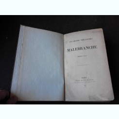 MALEBRANCHE - HENRI JOLY  (CARTE IN LIMBA FRANCEZA)