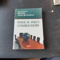 MANUAL DE ANALIZA A POLITICII EXTERNE - IULIA MOTOC