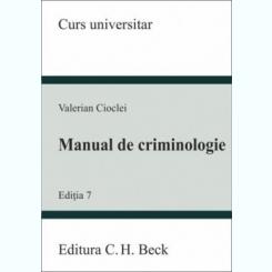 MANUAL DE CRIMINOLOGIE - VALERIAN CIOCLEI