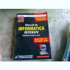 MANUAL DE INFORMATICA INTENSIV PENTRU CLASA A XII-A - VLAD TUDOR HUTANU