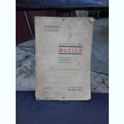 MANUAL DE MUZICAPENTRU CLASA I A SCOALELOR SECUNDARE - CONST. BRAILOIU