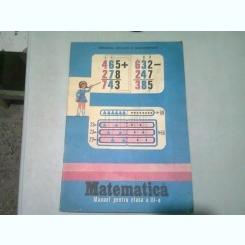 MATEMATICA. MANUAL PENTRU CLASA A III-A - DUMITRU ROSCA 1986