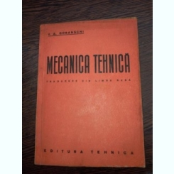 Mecanica tehnica (traducere din limba rusa)- Goranski
